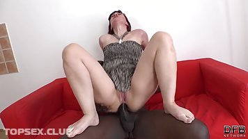 Big ass mature with red hair, Vera Delight likes to feel a big, black cock inside her